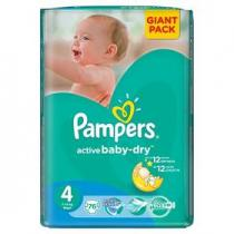 Pampers Active Baby-dry Maxi 76ks