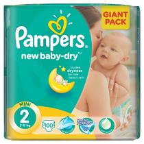 Pampers New Baby-dry 100ks