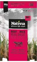Nativia Real Meat Beef Rice 8kg