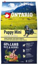 Ontario Puppy Mini Lamb Rice 6,5kg