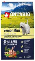 Ontario Senior Mini Lamb Rice 6,5kg