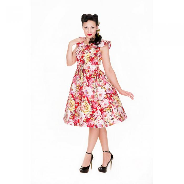 LINDY BOP RETRO Hetty Red Floral levně  bf1403c230