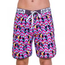 69SLAM Krátké Boardshort Medium Toucan