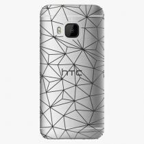 HTC - Abstract Triangles 03 - black - One M9