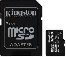 Kingston Industrial Micro SDHC 32GB Class 10 UHS-I + SD (SDCIT/32GB)