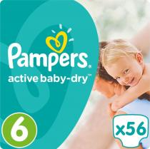 Pampers Active Baby 6 Extra Large 15+kg Giant Pack -