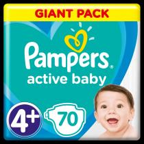 Pampers Active Baby 4+ Maxi 10-15kg Giant Pack -