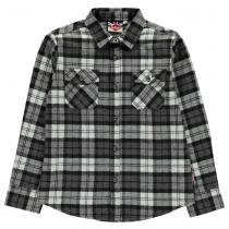 Lee Cooper Lee Cooper Flannel Shirt Junior, Black/White/Gry, 128