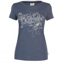 Lee Cooper Lee Cooper Fashion T Shirt Ladies, Denim Marl, XXL