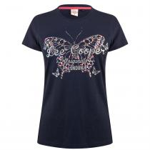 Lee Cooper Lee Cooper Classic T Shirt Ladies, Navy, XS