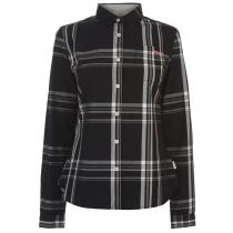 Lee Cooper Lee Cooper Long Sleeve Check Shirt Ladies, Black/Grey, M