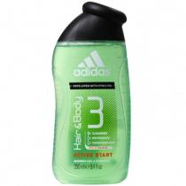Adidas Adidas Active Start 3in1 Gel za tuširanje i šampon za muškarce 3 u 1 400 ml