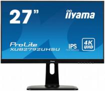 Iiyama 27 iiyama XUB2792UHSU-B1: IPS, 4K UHD, 300cd/m2, 4ms, DVI, HDMI, DP, USB, height, pivot, černý