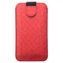 Fixed Pouzdro na mobil flipové FIXED Soft Slim, 4XL - Red Mesh (FIXSOS-RME-4XL)