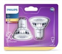 Philips Philips LED Classic 4.6-50 W, GU10, 2700 K, Set 2 ks (929001215231)