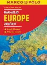 Marco Polo Europe 2018/19 maxi atlas 1:750 000