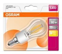Osram LED Filament STAR ClasP 230V 6W 827 E14