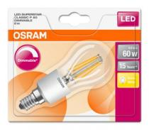 Osram LED Filament SUPERSTAR ClasP 230V 6W 827 E14
