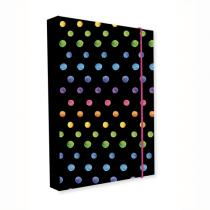 Karton PP - Box na sešity A4 Jumbo Dots Colors