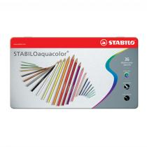 Stabilo - Pastelky aquacolor metal box 36 ks