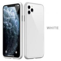 XO Glass Case iPhone 11 - Mléčně bílé