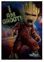 Merch Plakát Guardians of the Galaxy Vol. 2 - Angry Groot