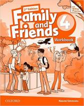 Family and Friends 4 Workbook with Online Skills Practice (2nd) - Naomi Simmons