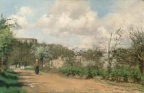 Camille Pissarro - Obrazová reprodukce View from Louveciennes, 1869-70 40x26.7 cm